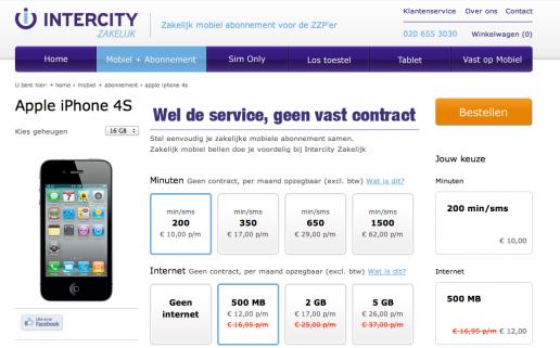 webshop intercity zakelijk